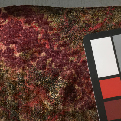 red brown paisley sweater knit fabric