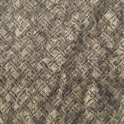 brown paisley lace knit fabric_261523
