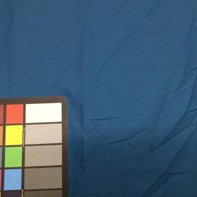 medium blue poly cotton fabric
