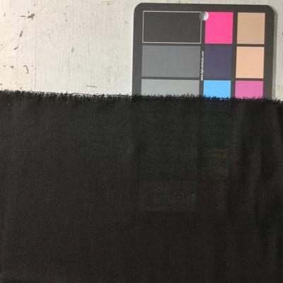 black sheer linen weave fabric