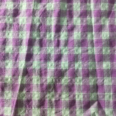 light purple and white plaid fabric