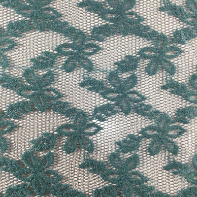 """Dark Green Net Lace Fabric   Apparel / Curtains   45"""" Wide   By the Yard"""