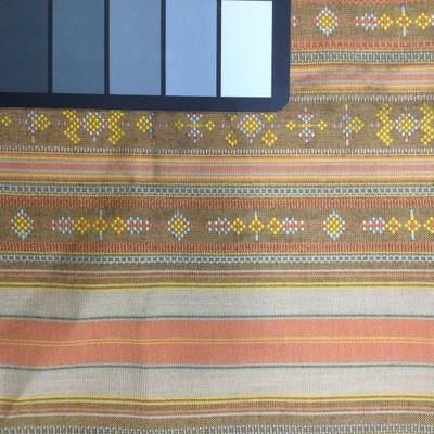 orange yellow tan western woven fabric