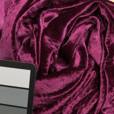 magenta velour stretch fabric
