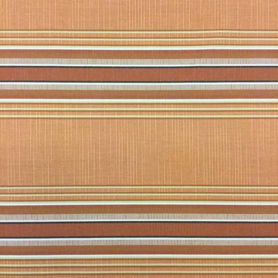 "3.8 Yard Piece of Vintage Striped Sunbrella | Orange / Beige | Outdoor Awning / Upholstery | 46"" Wide"