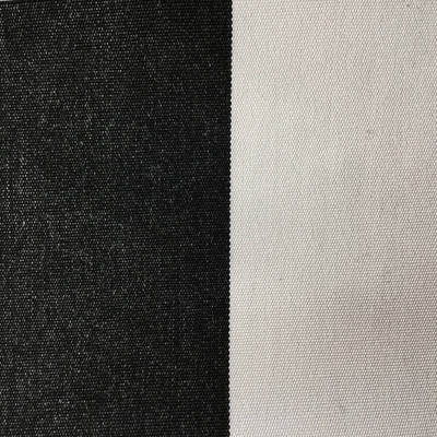 3.3 Yard Piece of  Indoor / Outdoor Fabric | Black / White Stripes | 54 Wide | Upholstery