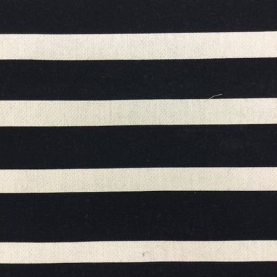 2.8 Yard Piece of Indoor / Outdoor Fabric   Black and White Striped   54 Wide   Upholstery