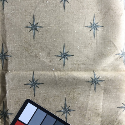 Galileo Star in Tan and Gray | Home Decor Fabric | 55 Wide | By the Yard