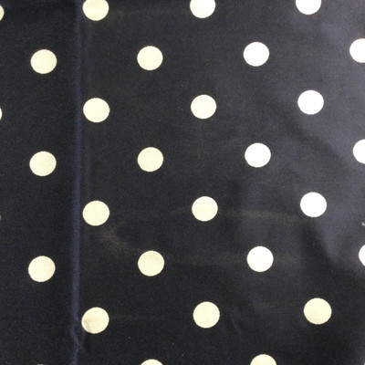 """Navy Blue / White Polka Dots 