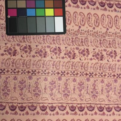pink purple paisley chiffon fabric
