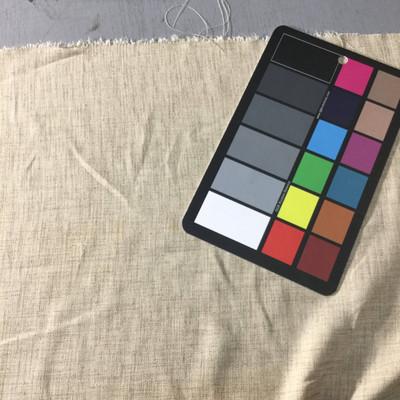 heather beige linen weave fabric