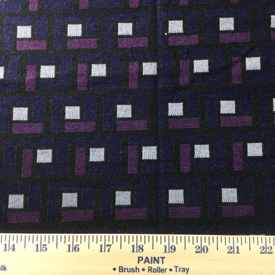 black purple abstract square sweater knit fabric