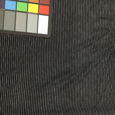 black and white pin stripe chiffon fabric