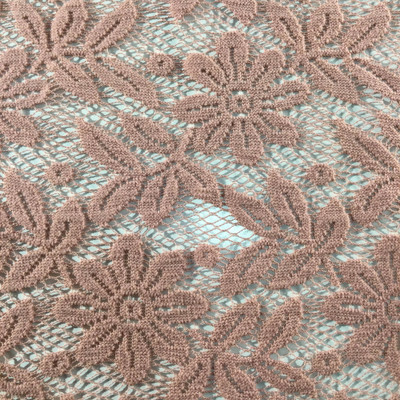 """Dusty Rose Pink Lace Fabric   Apparel / Curtains   45"""" Wide   By the Yard"""