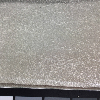 5.8 Yard Piece of Faux Leather Vinyl Fabric   Shimmering Pearl White Medium Grain    Upholstery / Bag Making   54 Wide