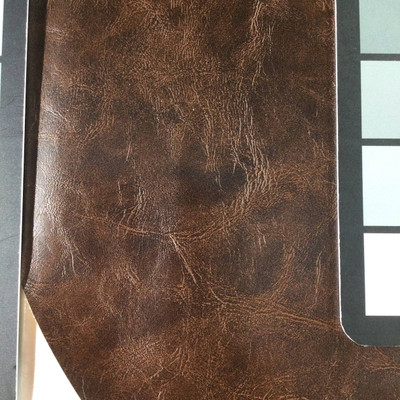 0.92 Yard Piece of Faux Leather Vinyl Fabric   Aged Mahogany   Upholstery / Bag Making   54 Wide