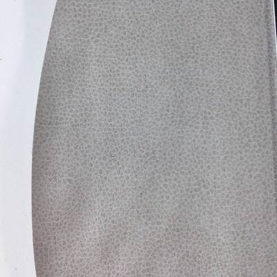 2.05 Yard Piece of Faux Leather Vinyl Fabric | Light Gray Medium Grain | Felt-Backed | Upholstery / Bag Making | 54 Wide