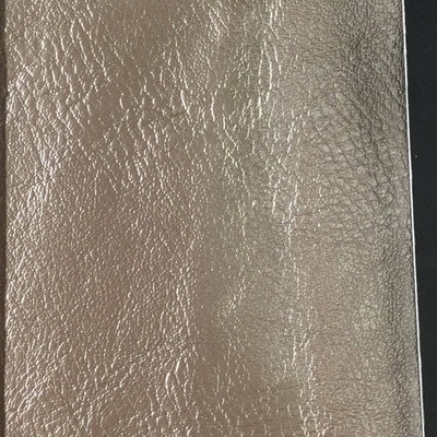 0.8 Yard Piece of Faux Leather Vinyl Fabric | Bronze Medium Grain | Felt-Backed | Upholstery / Bag Making | 54 Wide