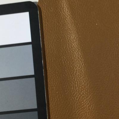 0.8 Yard Piece of Faux Leather Vinyl Fabric | Tan Medium Grain | Felt-Backed | Upholstery / Bag Making | 54 Wide
