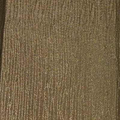 1.55 Yard Piece of Satin Finish Vinyl Fabric | Brown Wavy Stitched Texture | Felt-Backed | Upholstery / Bag Making | 54 Wide