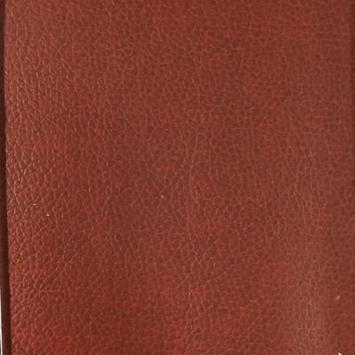 2.05 Yard Piece of Faux Leather Vinyl Fabric   Auburn Brown Medium Grain   Felt-Backed   Upholstery / Bag Making   54 Wide