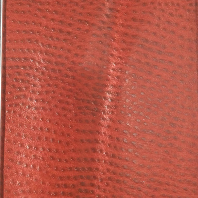 1.55 Yard Piece of Faux Leather Vinyl Fabric | Burgundy Red Ostrich Texture | Felt-Backed | Upholstery / Bag Making | 54 Wide
