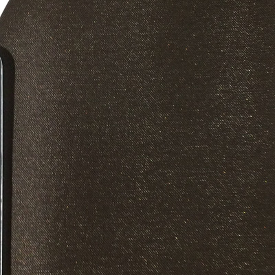 2.92 Yard Piece of Satin Finish Vinyl Fabric   Dark Brown Woven Texture   Upholstery / Bag Making   54 Wide