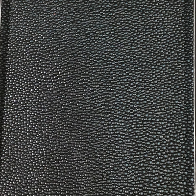 1.92 Yard Piece of Faux Leather Vinyl Fabric | Blue-gray Heavy Pebbled Grain  | Felt-Backed | Upholstery / Bag Making | 54 Wide