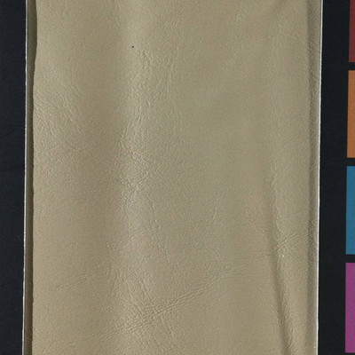 2.05 Yard Piece of Faux Leather Vinyl Fabric   Beige Light Grain   Upholstery / Bag Making   54 Wide