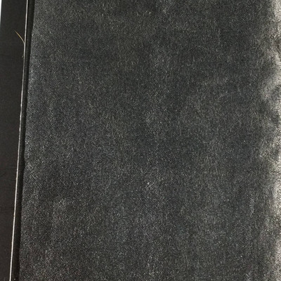1.05 Yard Piece of Faux Leather Vinyl Fabric   Dark Silver Gray Crinkle Texture   Lightweight   Upholstery / Bag Making   54 Wide