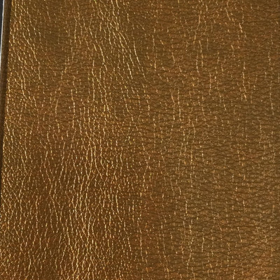 0.17 Yard Piece of Faux Leather Vinyl Fabric | Golden Brown Medium Grain | Felt-Backed | Upholstery / Bag Making | 54 Wide