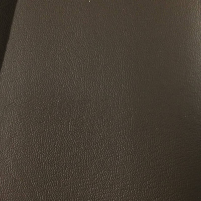3.55 Yard Piece of Faux Leather Vinyl Fabric | Dark Brown Lightly Textured | Upholstery / Bag Making | 54 Wide