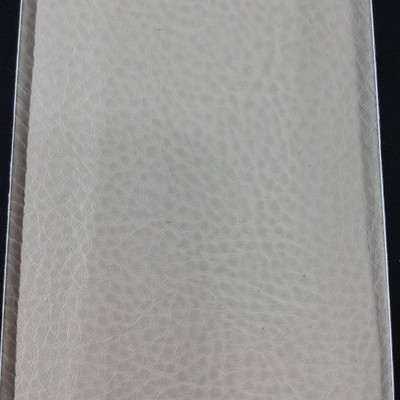 3.8 Yard Piece of Faux Leather Vinyl Fabric | Off White Medium Grain | Felt-Backed | Upholstery / Bag Making | 54 Wide