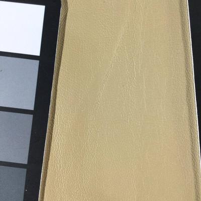 1.8 Yard Piece of Faux Leather Vinyl Fabric | Dark Beige Light Grain | Upholstery / Bag Making | 54 Wide