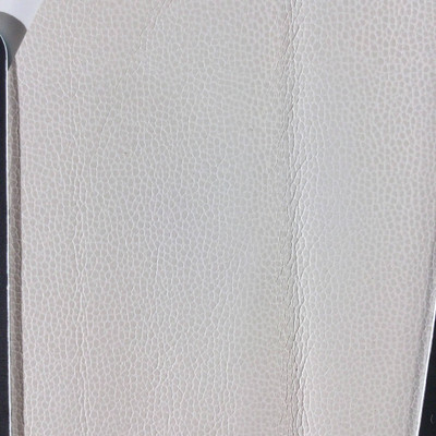 0.92 Yard Piece of Faux Leather Vinyl Fabric   Ivory Off-White Light Grain   Felt-Backed   Upholstery / Bag Making   54 Wide