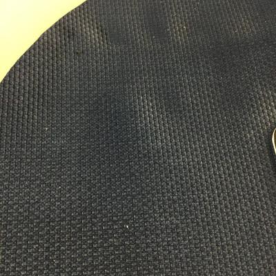 0.92 Yard Piece of Vinyl Fabric | Dark Blue Woven Texture | Felt-Backed | Upholstery / Bag Making | 54 Wide
