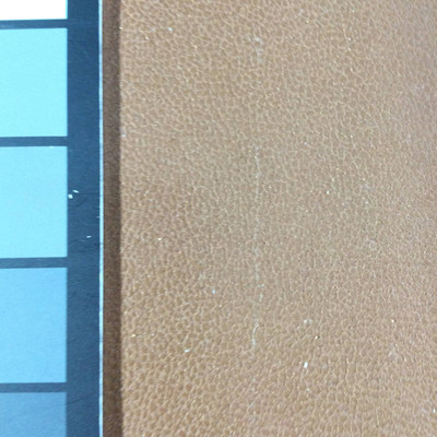 1.55 Yard Piece of Faux Leather Vinyl Fabric | Matte Brown Medium Grain | Upholstery / Bag Making | 54 Wide