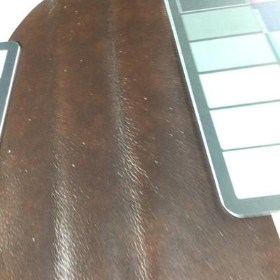 1.05 Yard Piece of Faux Leather Vinyl Fabric | Dark Brown Medium Grain | Upholstery / Bag Making | 54 Wide