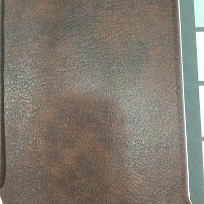 2.92 Yard Piece of Faux Leather Vinyl Fabric | Dark Brown Lightly Textured | Upholstery / Bag Making | 54 Wide