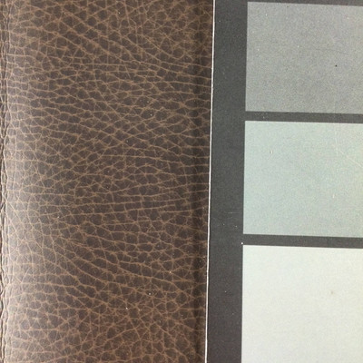 2.05 Yard Piece of Faux Leather Vinyl Fabric | Matte Dark Brown Lightly Textured | Upholstery / Bag Making | 54 Wide