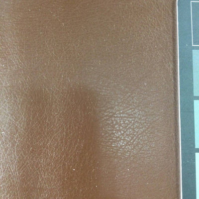 2.92 Yard Piece of Faux Leather Vinyl Fabric | Chocolate Brown Medium Grain | Felt-Backed | Upholstery / Bag Making | 54 Wide
