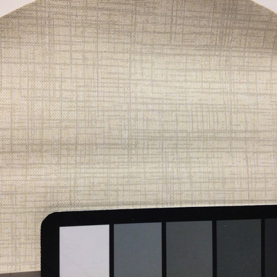 2.05 Yard Piece of Vinyl Fabric | Two Toned Ivory Crosshatch | Upholstery / Bag Making | 54 Wide