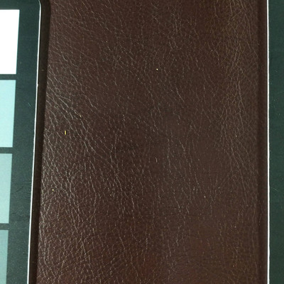1.8 Yard Piece of Faux Leather Vinyl Fabric | Mahogany Brown Lightly Textured | Upholstery / Bag Making | 54 Wide