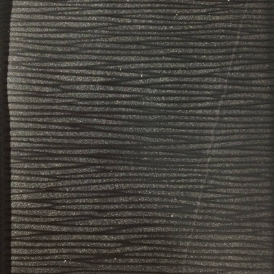 0.8 Yard Piece of Vinyl Fabric   Black Striated Texture   Upholstery / Bag Making   54 Wide
