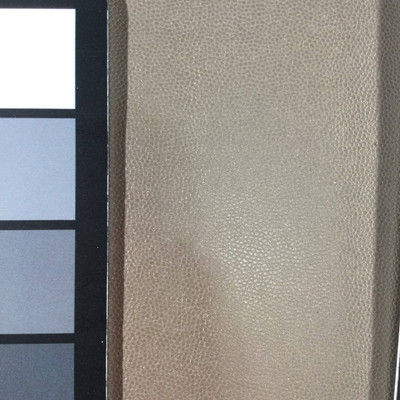 1.8 Yard Piece of Faux Leather Vinyl Fabric | Shiny Taupe Lightly Textured | Upholstery / Bag Making | 54 Wide