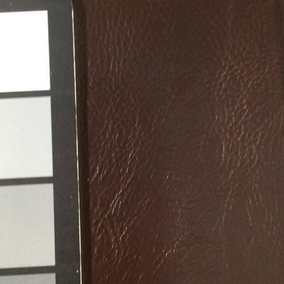 1.55 Yard Piece of Faux Leather Vinyl Fabric | Dark Brown Medium Grain | Felt-Backed | Upholstery / Bag Making | 54 Wide