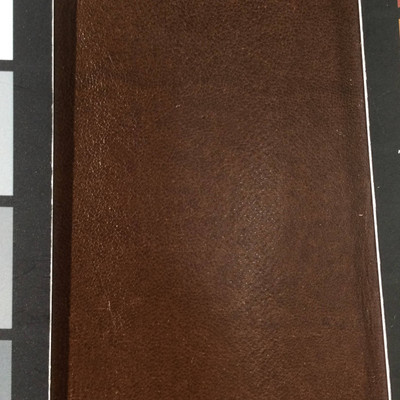 0.8 Yard Piece of Faux Leather Vinyl Fabric | Brown Lightly Textured | Upholstery / Bag Making | 54 Wide