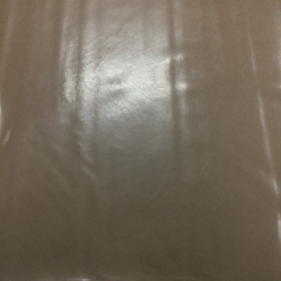 0.8 Yard Piece of Faux Leather Vinyl Fabric   Glossy Brown Lightly Textured   Felt-Backed   Upholstery / Bag Making   54 Wide