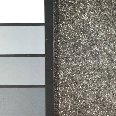1.55 Yard Piece of Vinyl Fabric   Dark Silver Gravel Texture   Upholstery / Bag Making   54 Wide