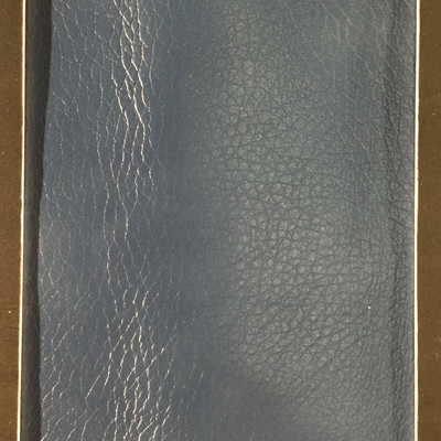 2.05 Yard Piece of Faux Leather Vinyl Fabric   Ocean Blue Light Grain   Upholstery / Bag Making   54 Wide